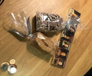 ロンドン橋のお土産屋さんのチョコレートとキャラメル