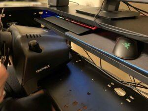 arcdeskのキーボード収納部分